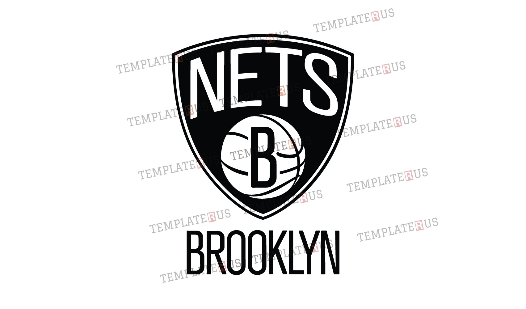 Brooklyn Nets Logo Svg Dxf Clipart Cut File Vector Eps Ai Pdf Icon Silhouette Design Templaterus